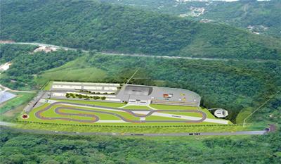 Esboço inicial do projeto, ainda sem atender às exigências CIK-FIA, dá uma noção do formato do terreno (Foto: Divulgação)