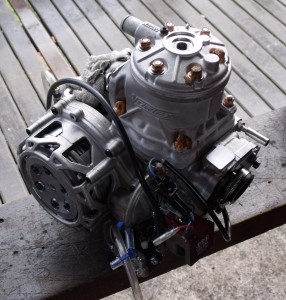 Motor Vortex utilizado por Danilo Dirani (Foto: Renan do Couto/Allkart.net)