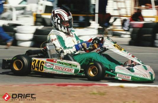 Pérez a bordo de um Tony Kart em 2002 (Foto: Facebook)