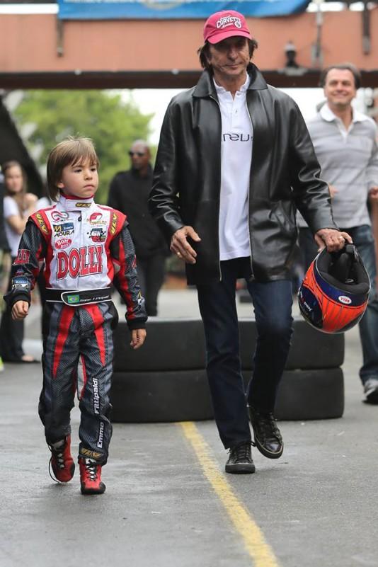 Emmo e seu pai, Emerson Fittipaldi - Foto Bruno Terena