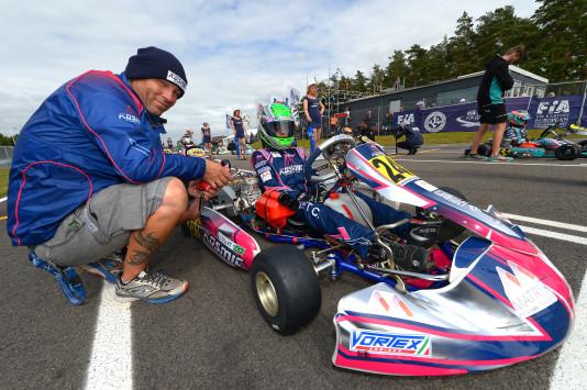 Caio Collet fez sua primeira temporada no kartismo Europeu (Foto: CIK-FIA/KSP)