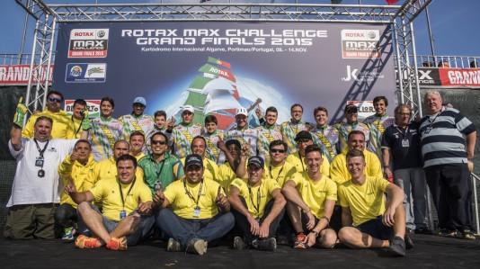 Delegação brasileira na final mundial de Rotax 2015. (Foto: Fernando Bianchi)