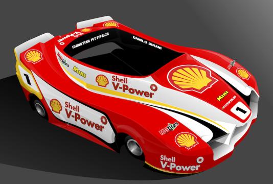 Este será o visual dos karts da Shell Racing em Limeira. (Foto: Divulgação)