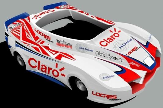 Desenho dos karts da Locres Racing para as 500 Milhas 2015. (Foto: Divulgação)